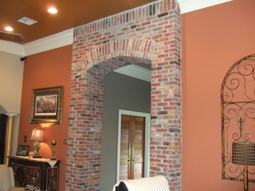 Brick Entryway Arch After Remodeling